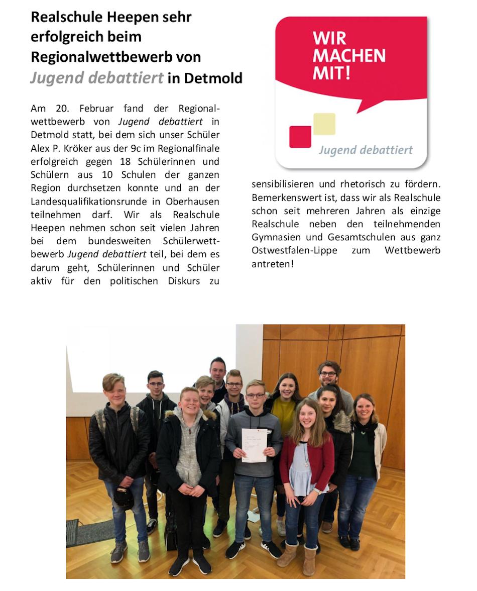 Jugens Debattiert regional 2018