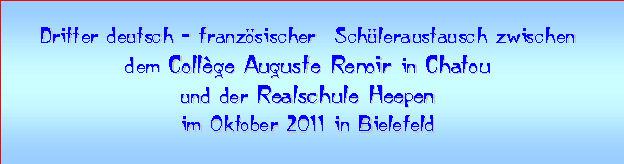 Bielefeld Oktober 2011